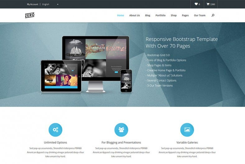 Responsive Bootstrap 3 HTML Template
