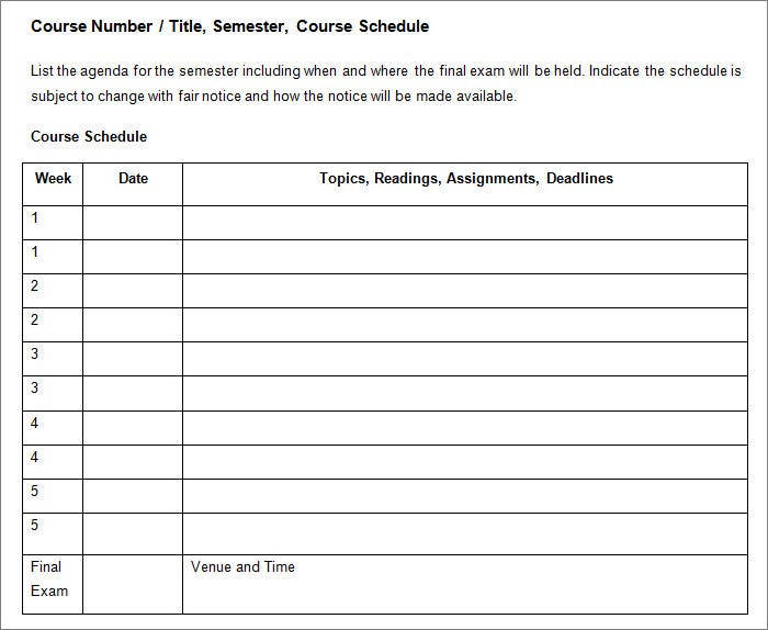 Accessible Syllabus Template