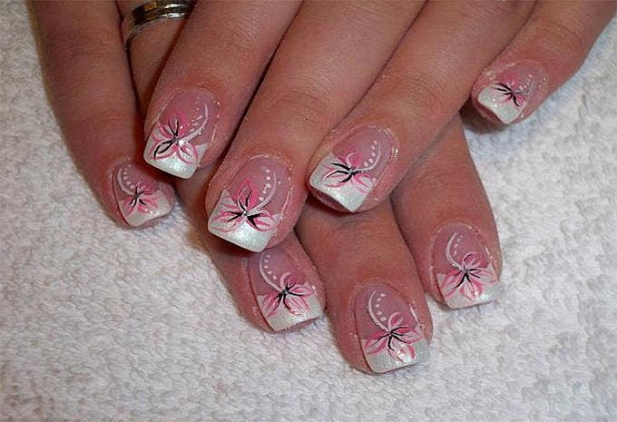 acrylic nail art design