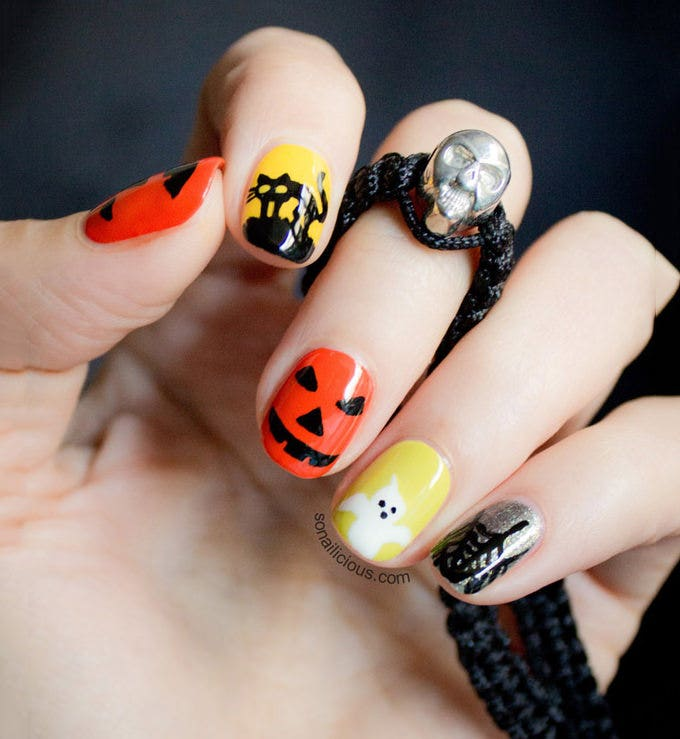 awesome halloween nail design