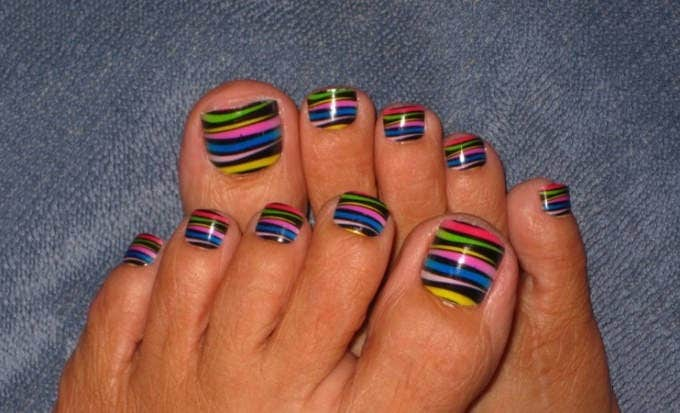 Baseball Toe Nail Design - 20+ Toe Nail Art Designs & Ideas Free & Premium Templates