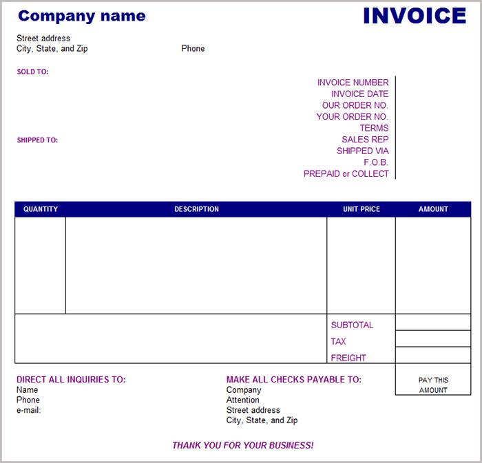 16 free basic invoice templates