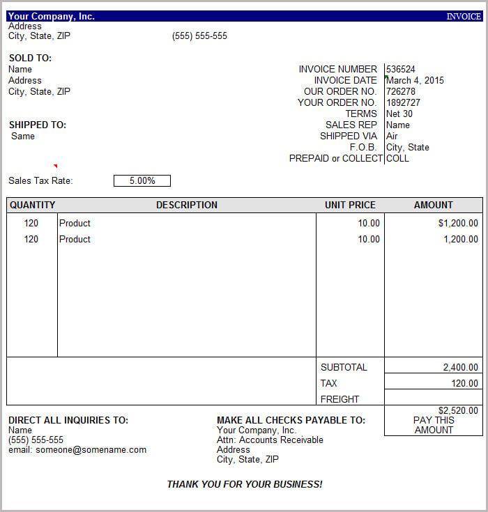 Download Invoice Template Basic Word | rabitah.net