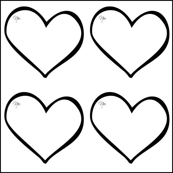Divine image for free printable heart templates