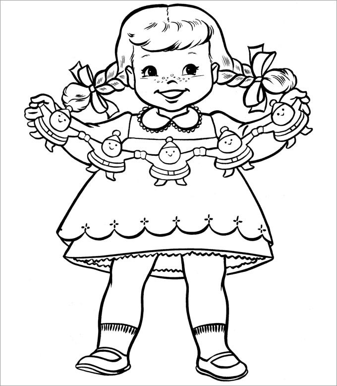 blank paper doll template new