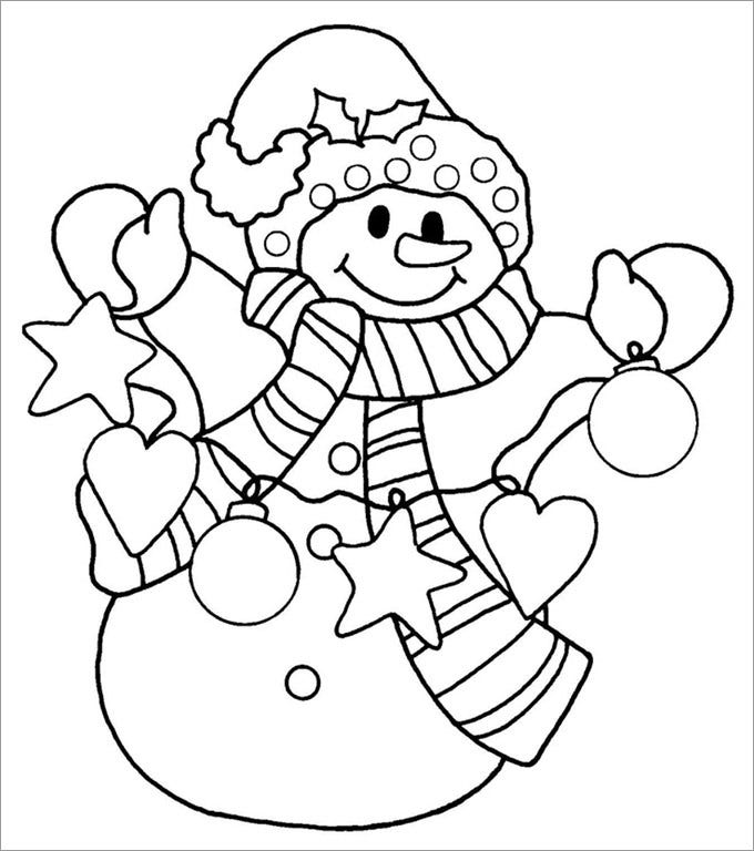 blank snowman template new