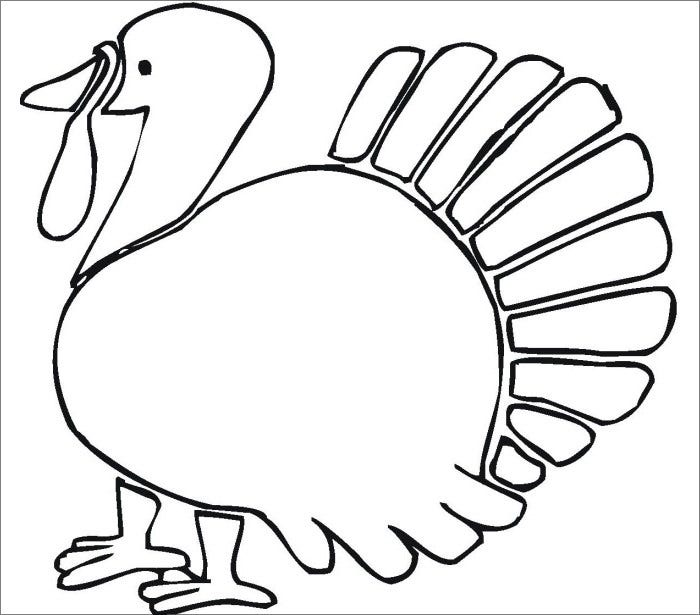 It's just a picture of Divine Turkey Outline Printable