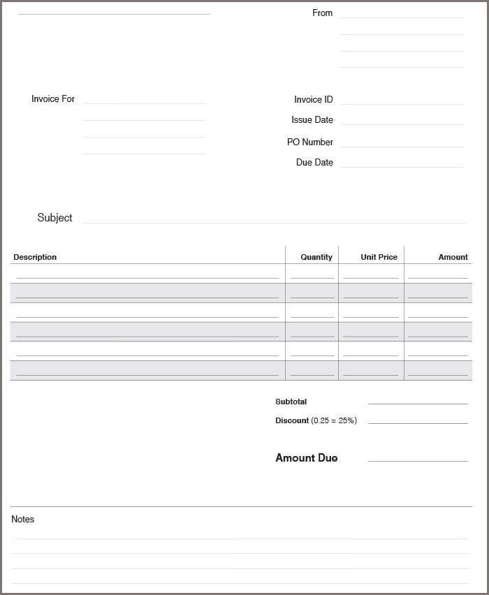business invoice2