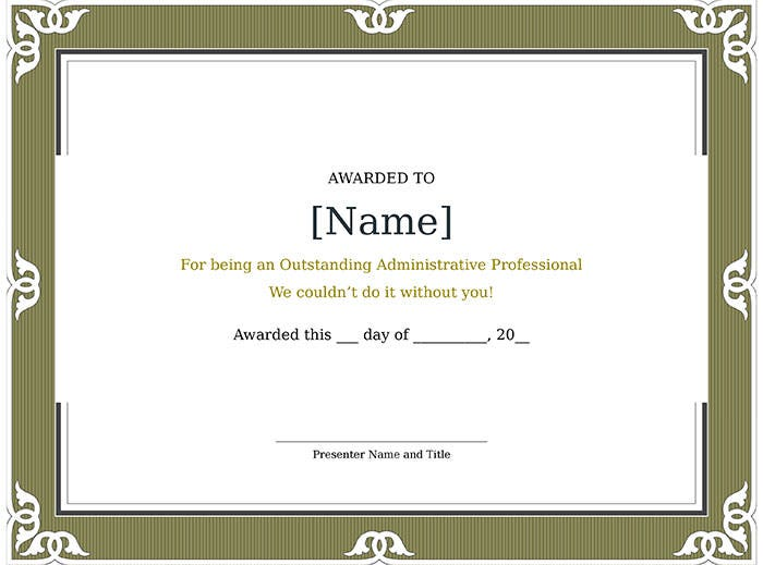 certificate-of-recognition-for-administrative-professional