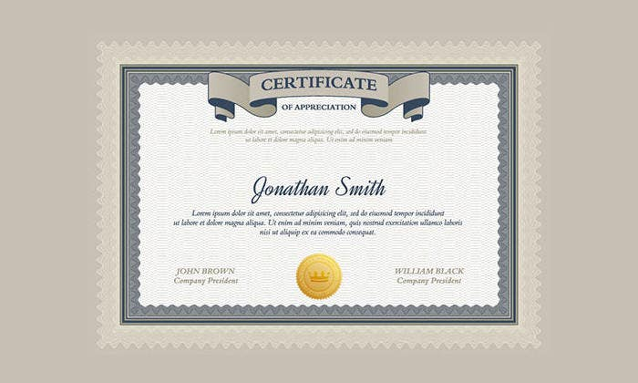 55 psd certificate templates free psd format download free certificate design template psd yadclub Image collections
