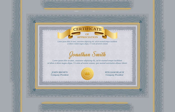 84 psd certificate templates free psd format download free certificate of appreciation template psd yadclub Choice Image