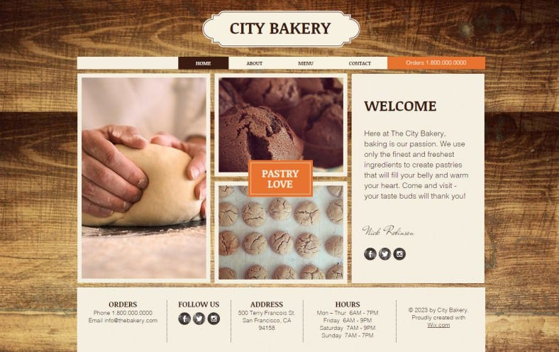 Bakery Website Themes Templates Free Premium Templates - Bakery brochure template free