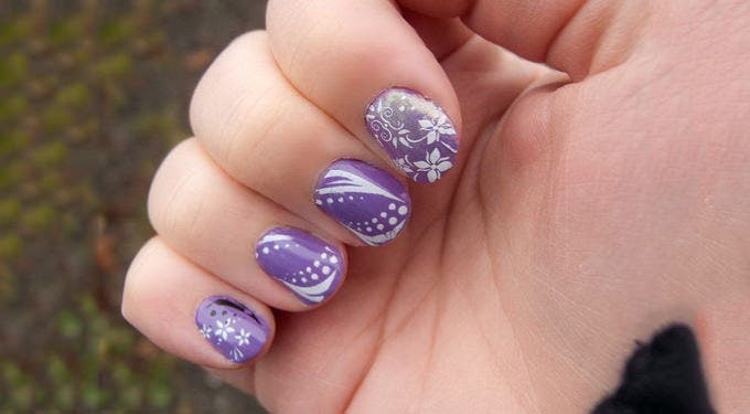 cool acrylic nail design
