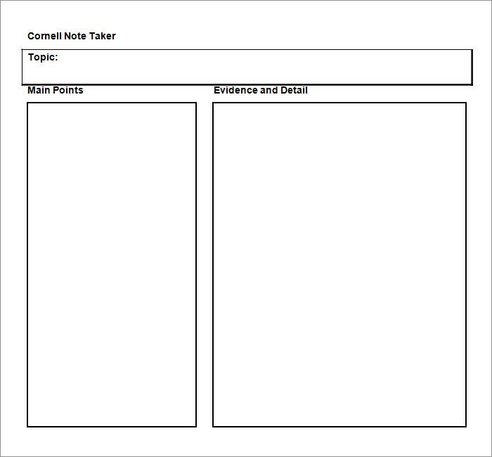 notes template word - Asafon.ggec.co