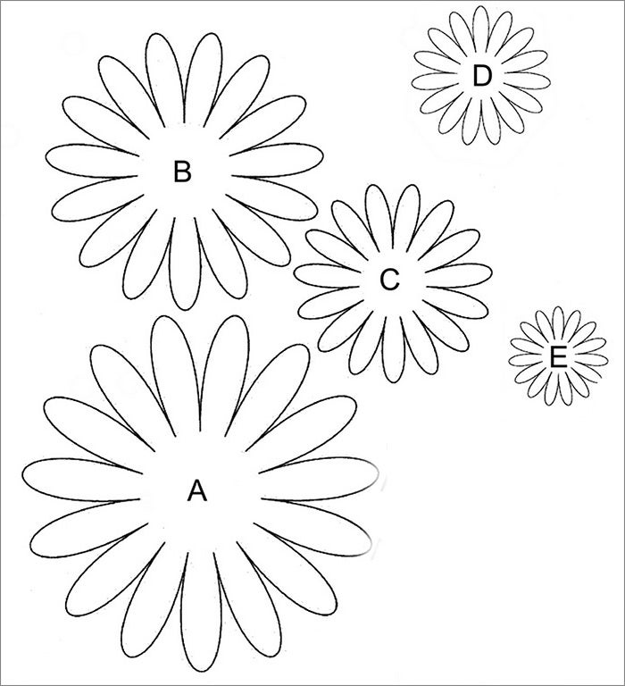 Flower template free templates free premium templates for Daisy cut out template