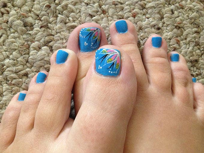 Easy to do Toe Nail Design - 20+ Toe Nail Art Designs & Ideas Free & Premium Templates