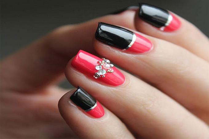 elegant acrylic nail design