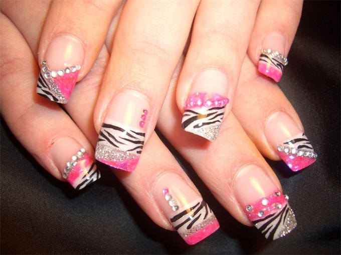 fake acrylic nails design