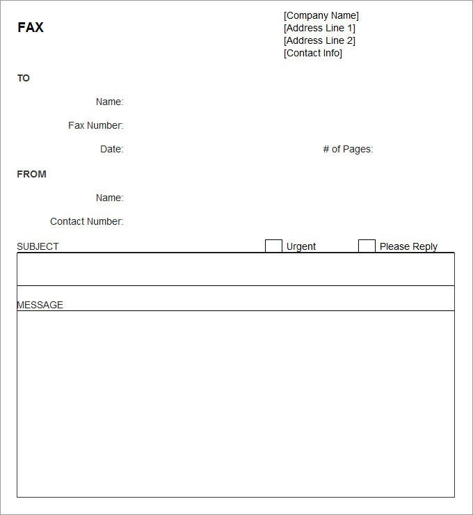 printable fax cover sheet template .