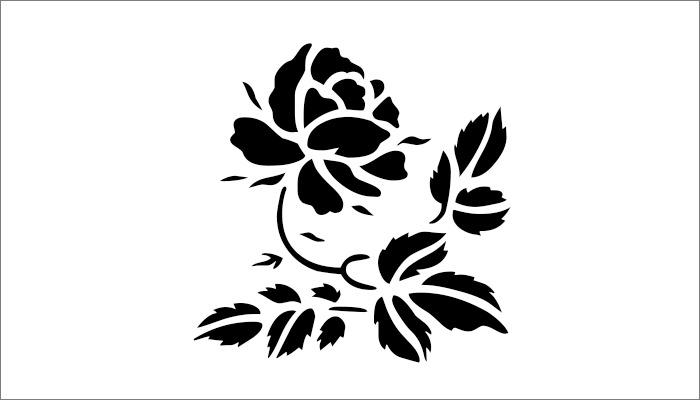 felt free flower template