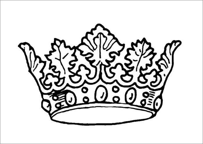felt crown template