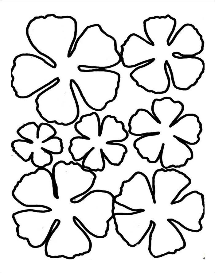 Flower template free templates free premium templates for Paper cut out templates flowers