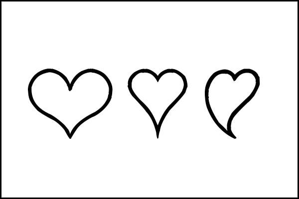 25  heart template  printable heart templates