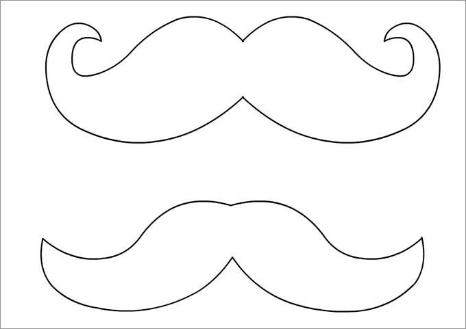 photo relating to Printable Mustache Template named Mustache Template Free of charge Quality Templates