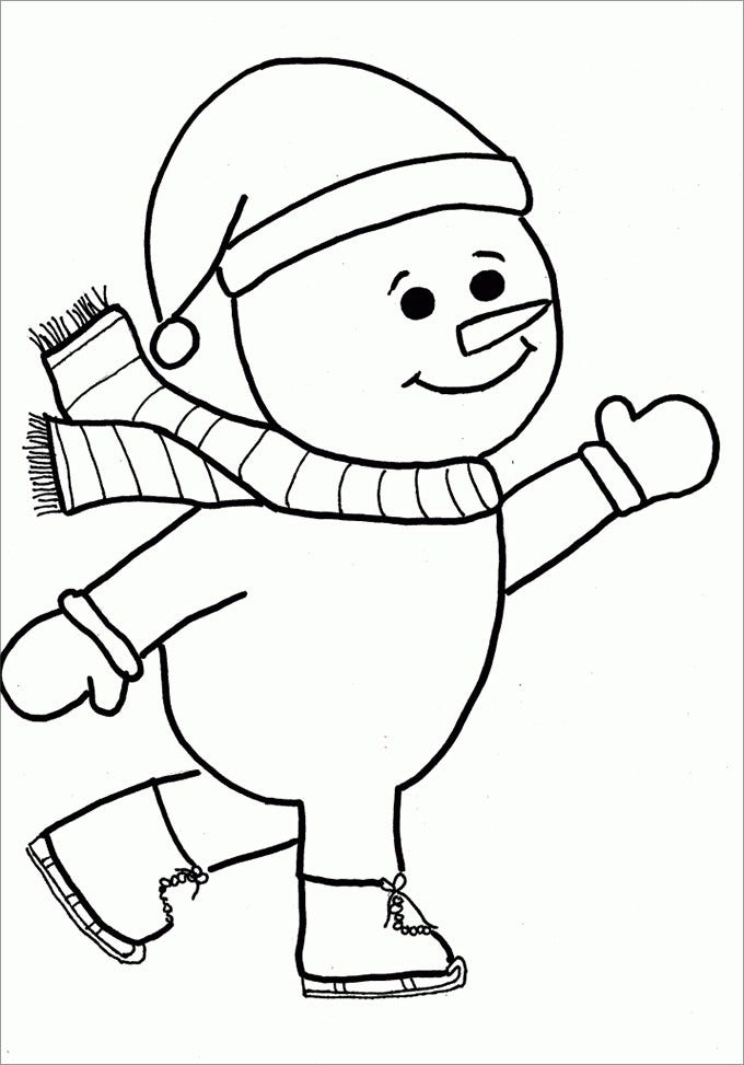 free snowman coloring page new