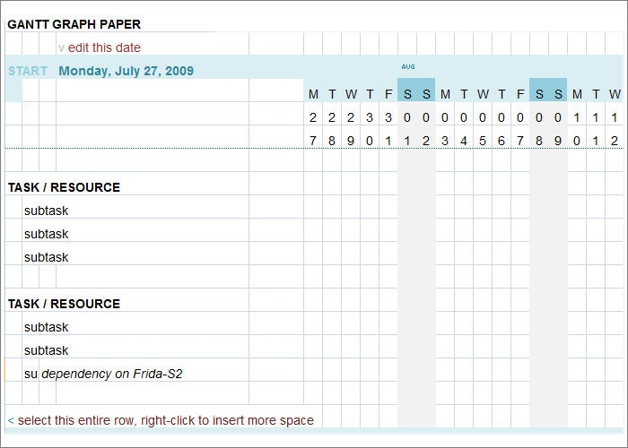 Gantt Chart Template 9 Free Sampleexample Format Download