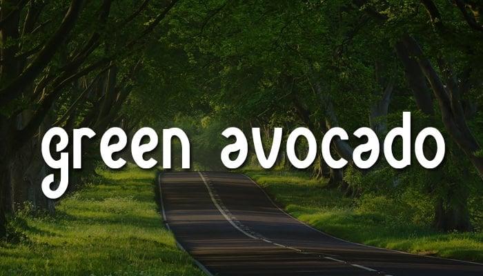 green avocado1