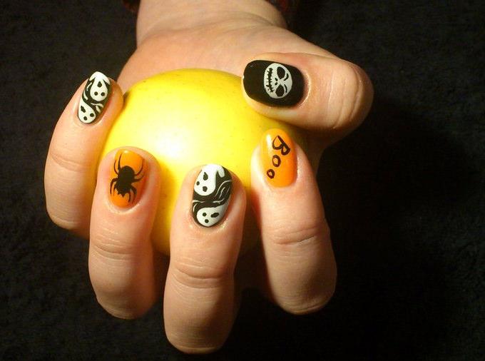 halloween gel nail designs