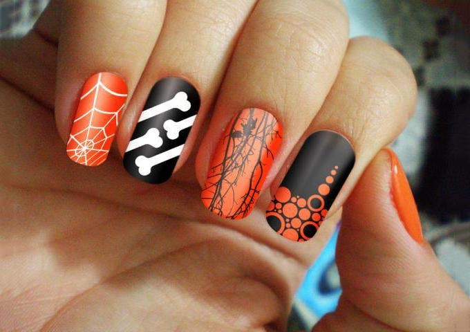 halloween nail art design idea