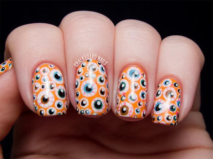 halloween nail art idea