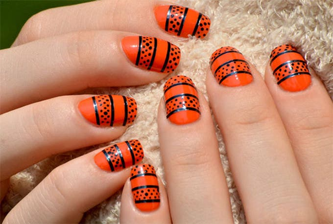 halloween nail design picture