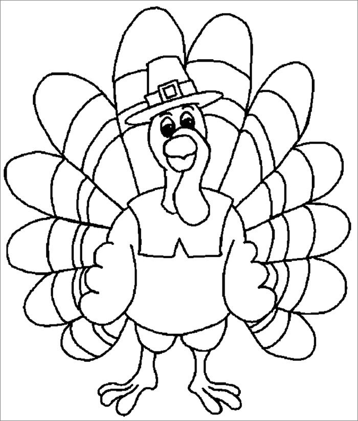 Sly image within turkey template printable