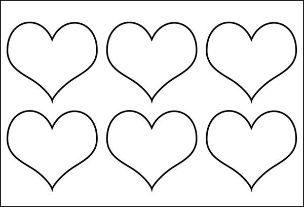 Peaceful image within printable heart templates