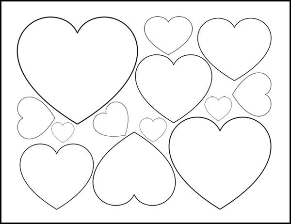 Fan image with regard to printable hearts template