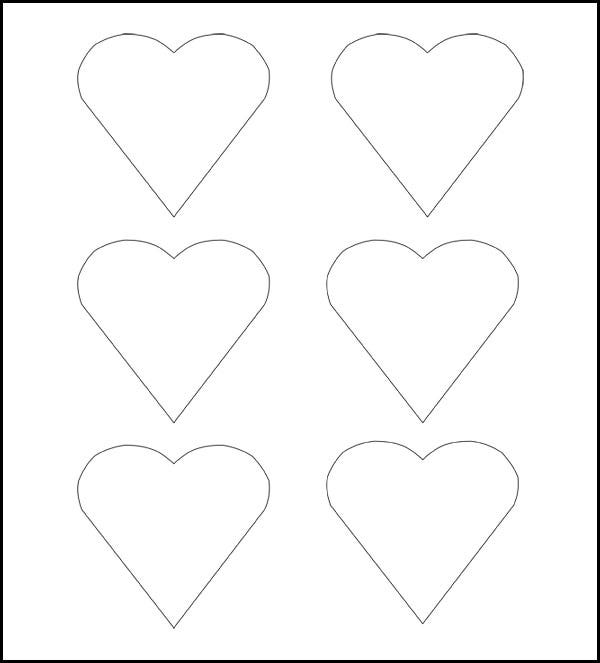 heart templates to print