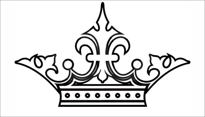Simple king crown outline - photo#11