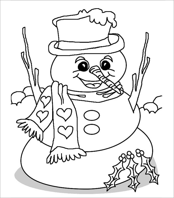 large snowman template new