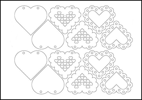 love heart template