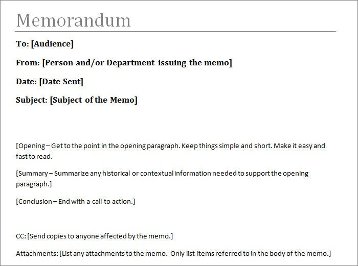 Formal Memo Template Download Formal Memo Examples Samples Write