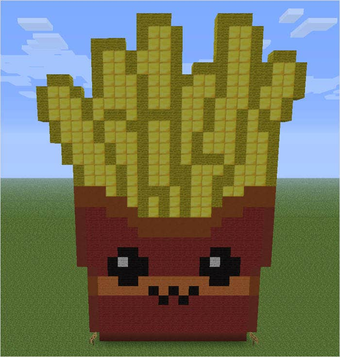 minecraft pixel art food