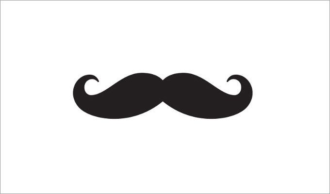 photograph relating to Free Mustache Printable called Mustache Template Cost-free Quality Templates