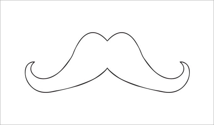 photograph about Free Mustache Printable referred to as Mustache Template Absolutely free Top quality Templates