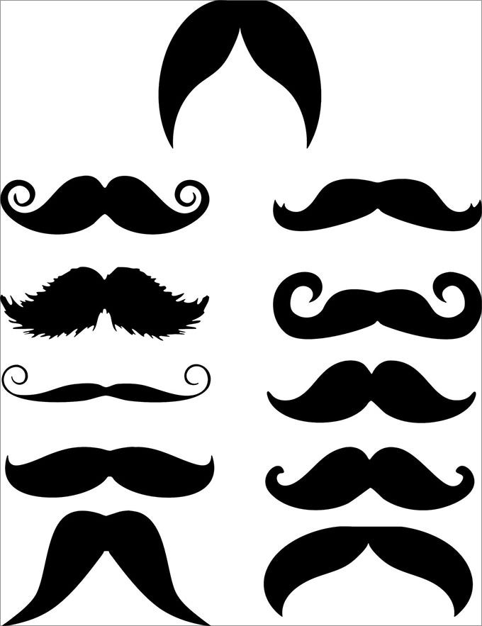 image about Free Mustache Printable named Mustache Template Free of charge High quality Templates
