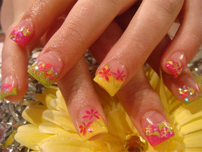 nail design for acrylic nails