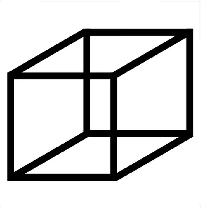 net of a cube template
