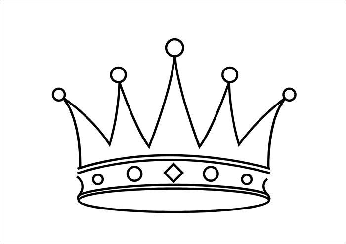 Crown template free templates free premium templates for Cardboard crown template